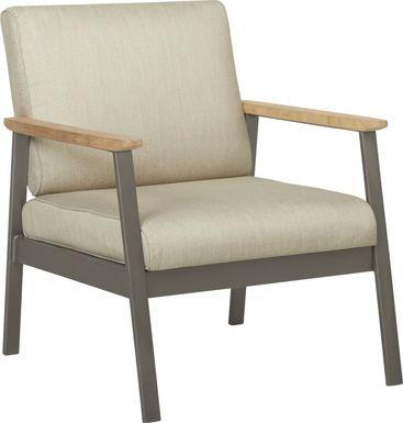 Ocean Tide Gray Outdoor Club Chair