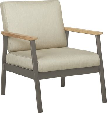 Ocean Tide Gray Outdoor Club Chair