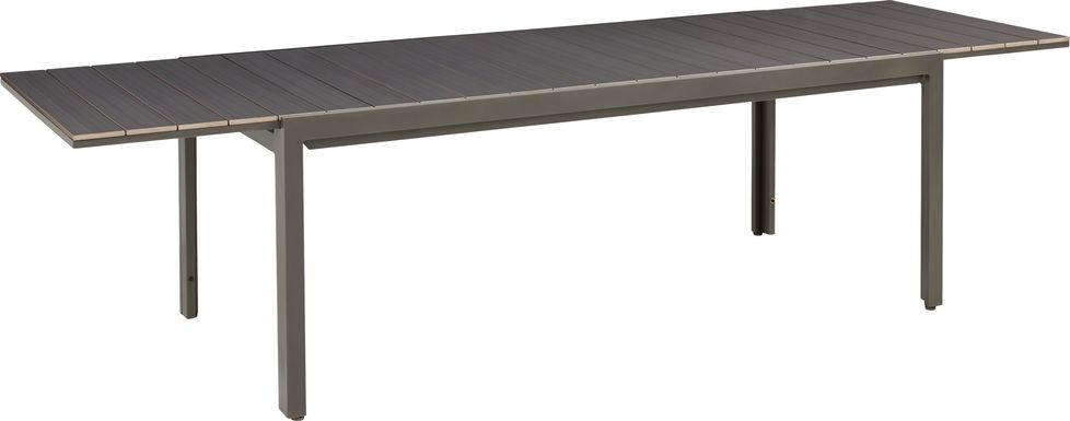 Ocean Tide Gray Outdoor Dining Extension Table