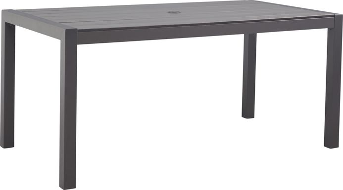 Ocean Tide Gray Outdoor Dining Table