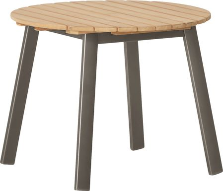 Ocean Tide Gray Outdoor End Table