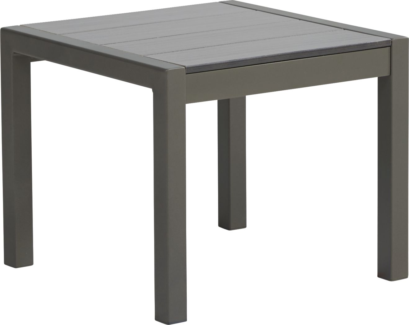 Ocean Tide Gray Outdoor End Table