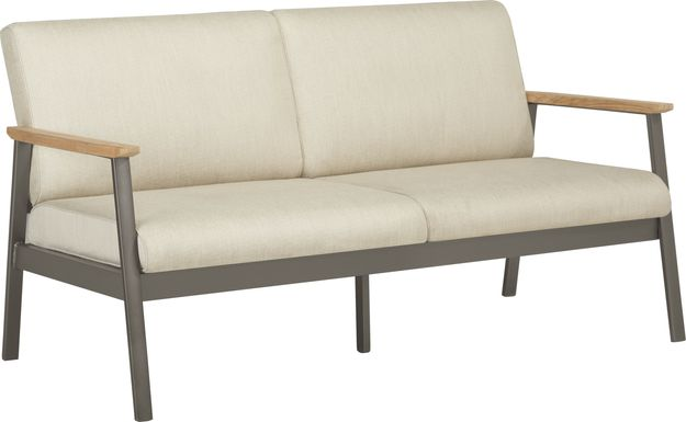 Ocean Tide Gray Outdoor Loveseat