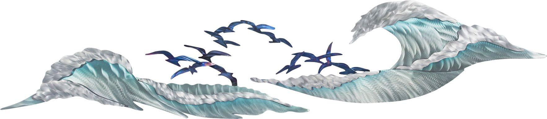 Ocean Waves Blue Outdoor Artwork