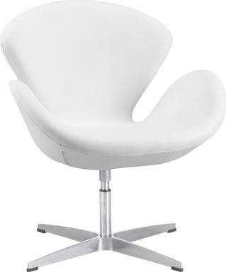 Odille White Accent Chair