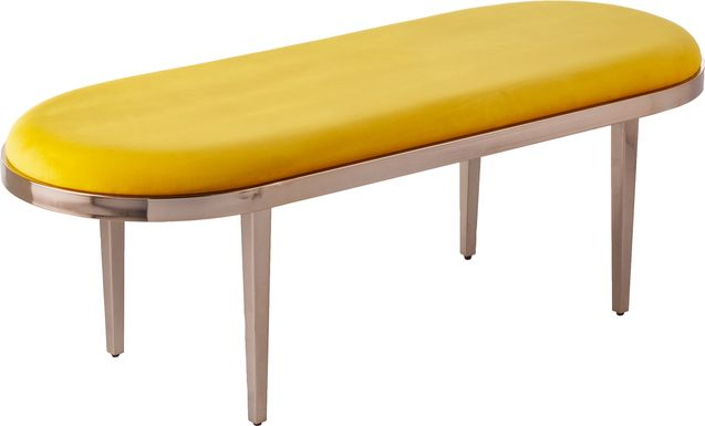 Oglesby Yellow Accent Bench