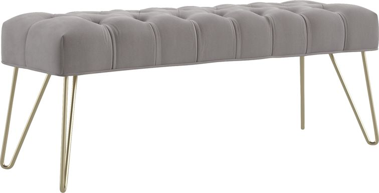 Oleandri Gray Accent Bench