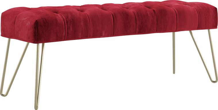 Oleandri Red Accent Bench