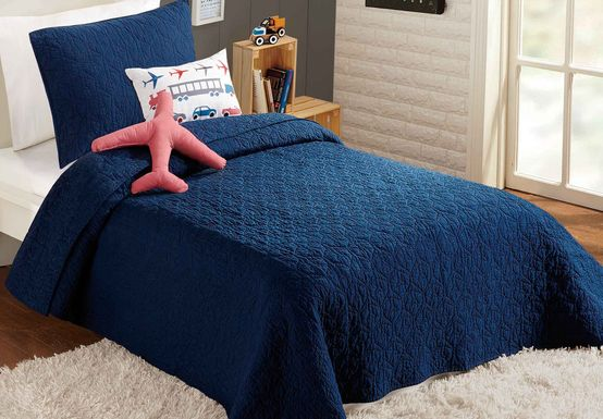 Oli Navy Twin Comforter Set
