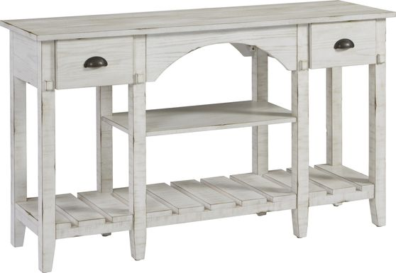 Olivula White Sofa Table