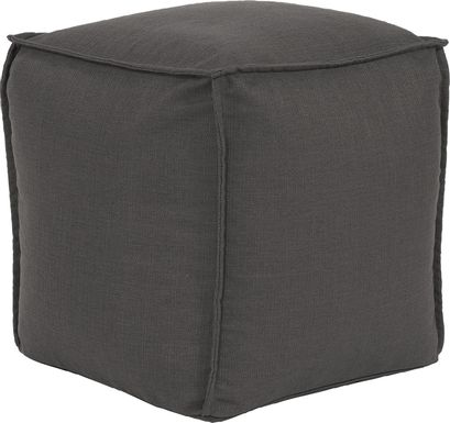 Olney Gray Pouf