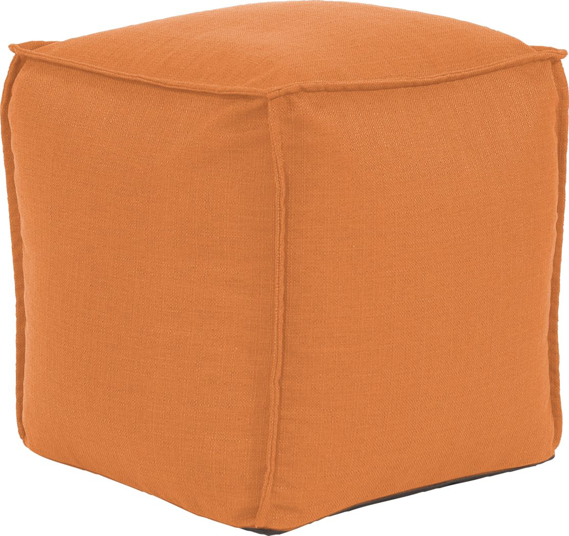 Olney Orange Pouf