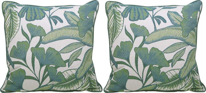 Opoa Green Indoor/Outdoor Accent Pillow, Set of Two
