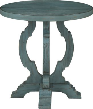 Orchard Park Teal Accent Table