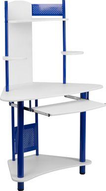 Oren Blue Desk and Hutch