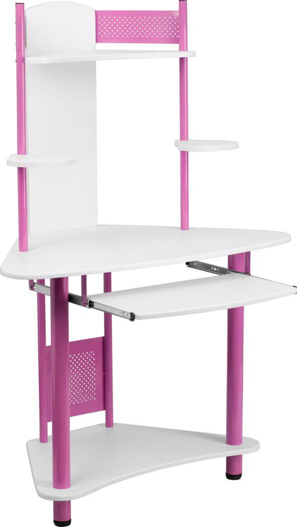 Oren Pink Desk and Hutch