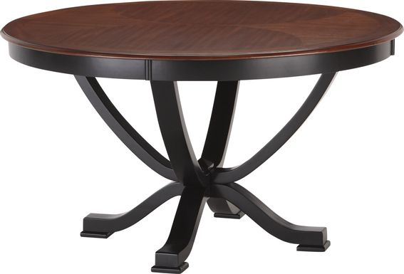 Orland Park Black Round Dining Table