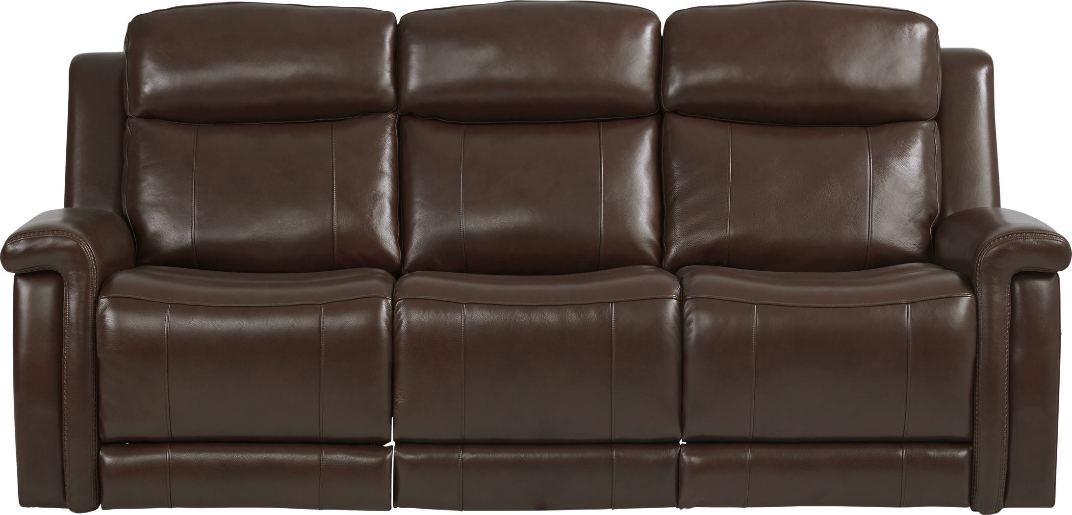 Orsini Brown Leather Dual Power Reclining Sofa
