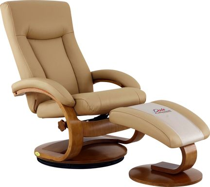 Oslo Collection Hamar Tan Recliner & Ottoman