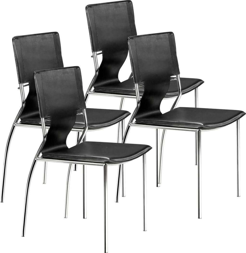 Ottoline Black Side Chair, Set of 4