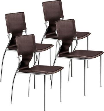 Ottoline Espresso Side Chair, Set of 4