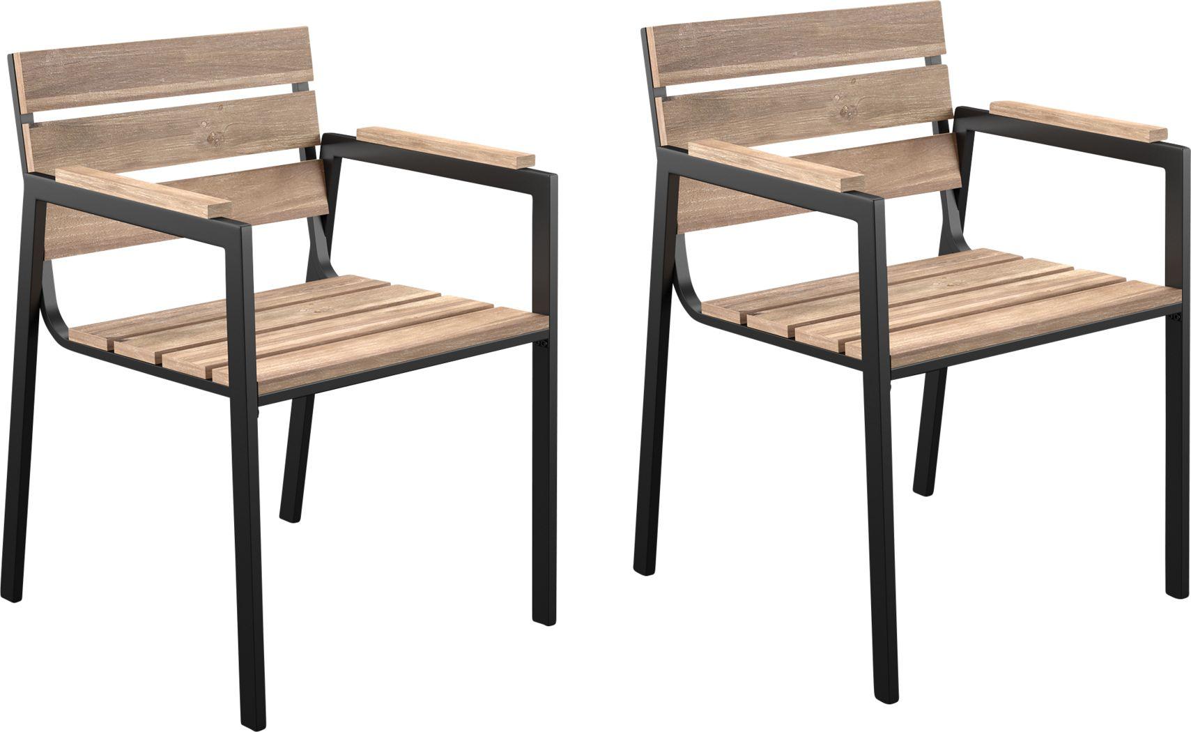 Vermissa Natural Outdoor Arm Chair, Set of 2