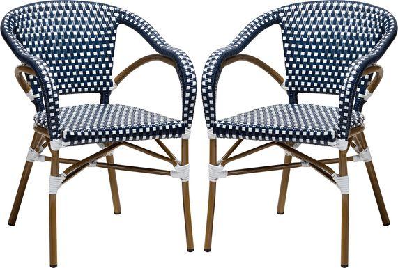 Padazi Blue Dining Chair, Set of 2