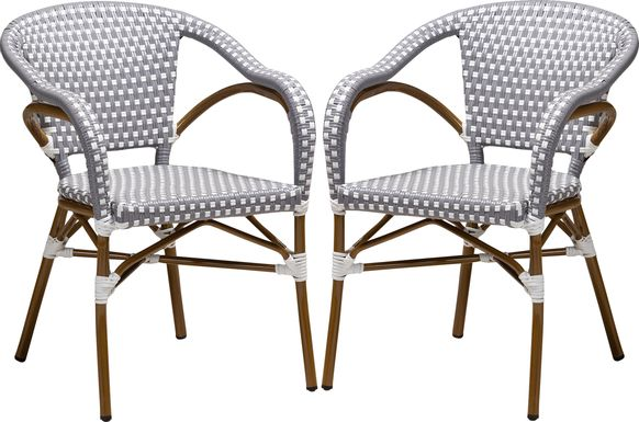 Padazi Gray Dining Chair, Set of 2