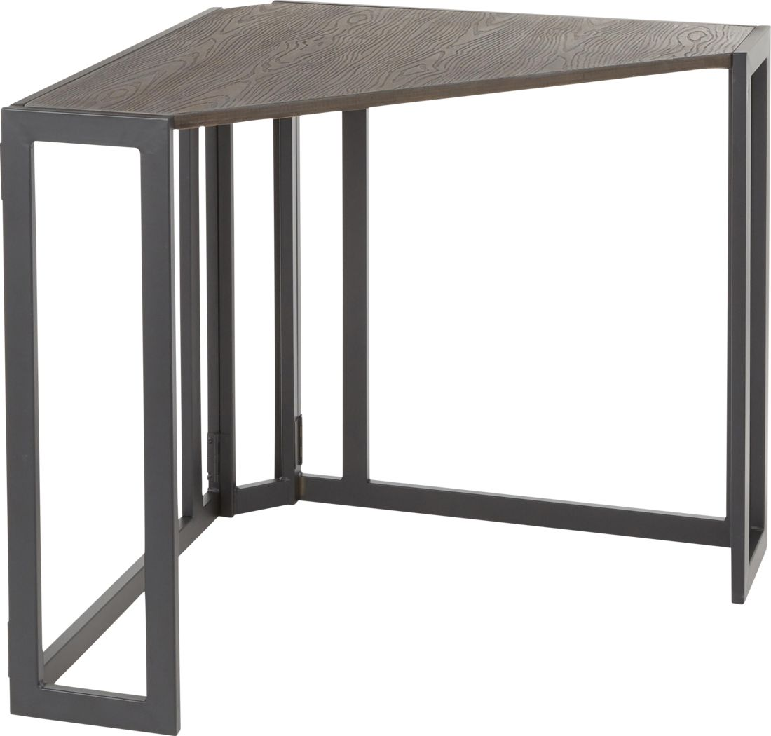Paigefield Espresso Corner Desk
