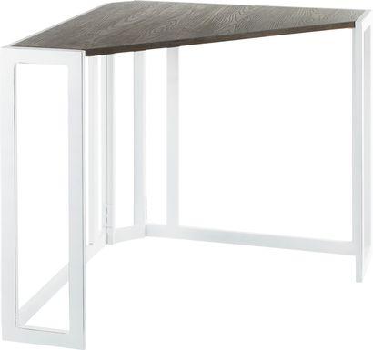 Paigefield White Corner Desk