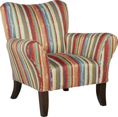 Painterly Stripe Accent Chair