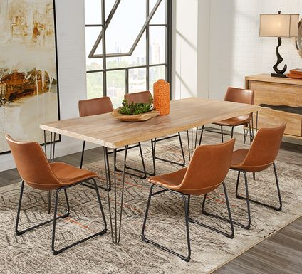Palm Grove Brown 5 Pc Dining Room with Brown Chairs