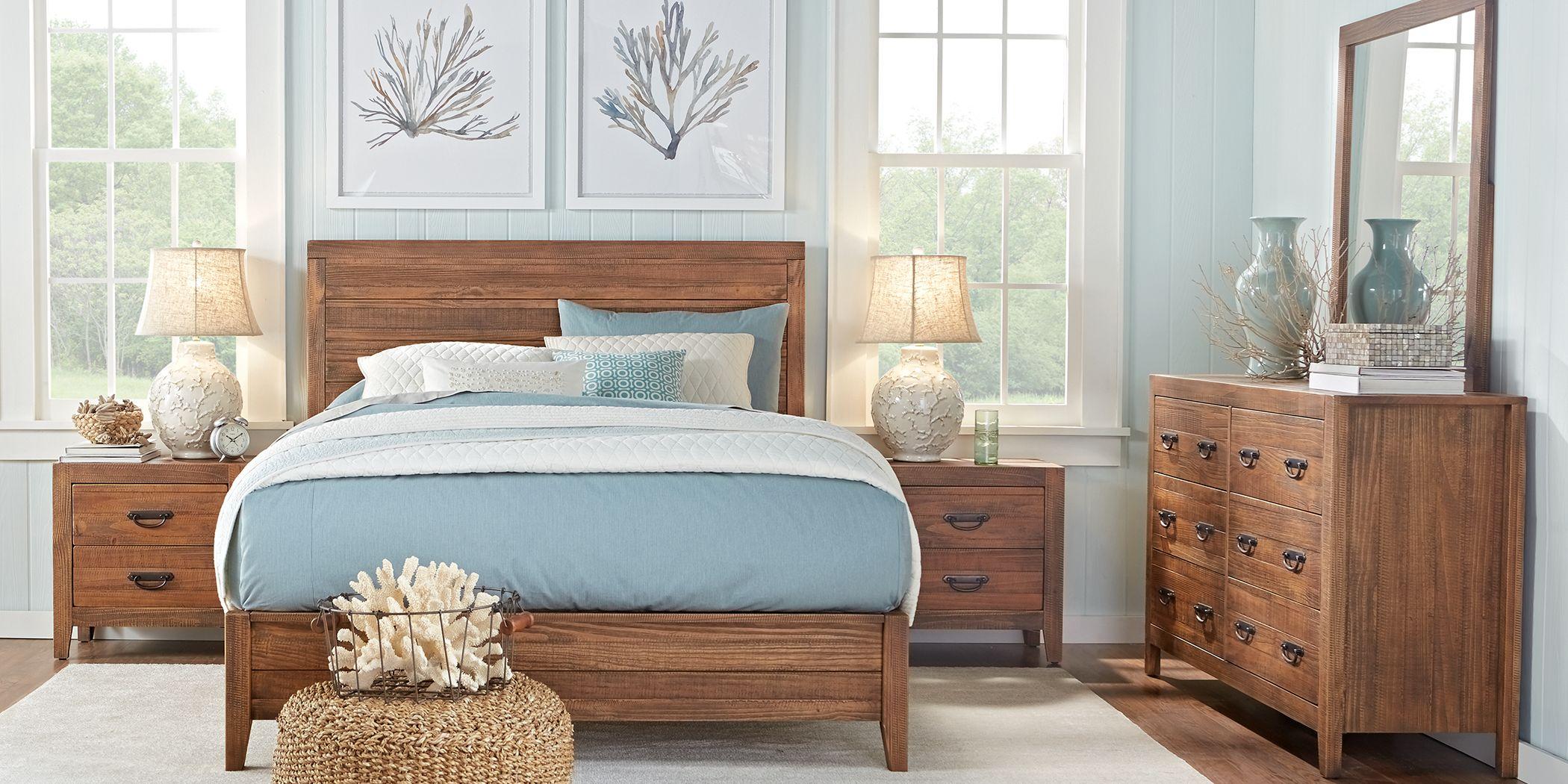 Palm Grove Brown 5 Pc Queen Panel Bedroom