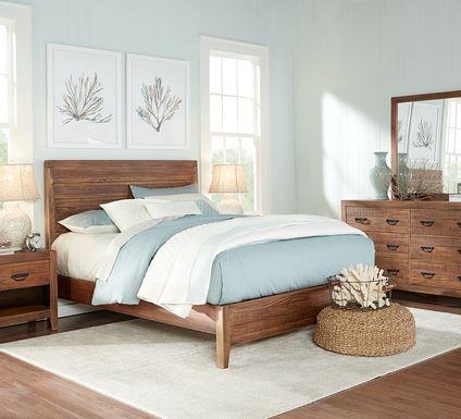 Palm Grove Brown 7 Pc King Panel Bedroom