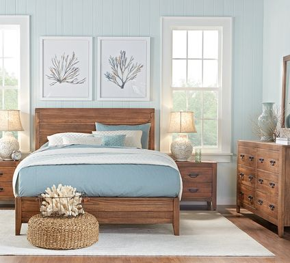 Palm Grove Brown 7 Pc King Panel Bedroom