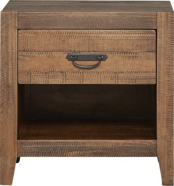 Palm Grove Brown Open Nightstand