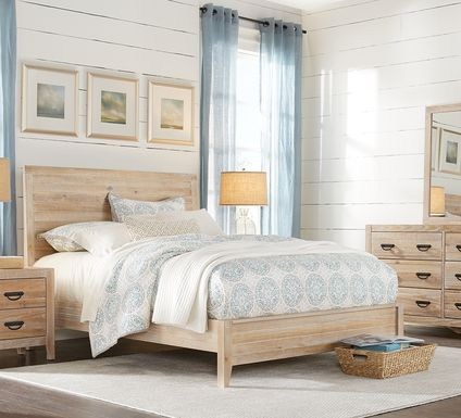 Palm Grove Toffee 7 Pc King Panel Bedroom