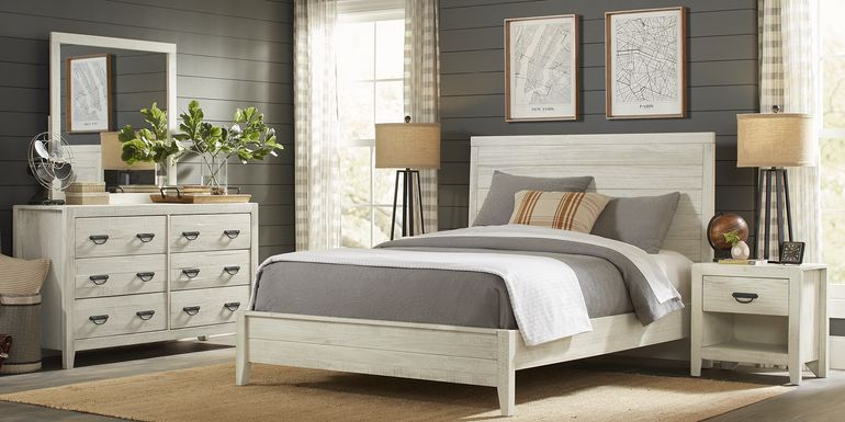 Palm Grove White 5 Pc King Panel Bedroom
