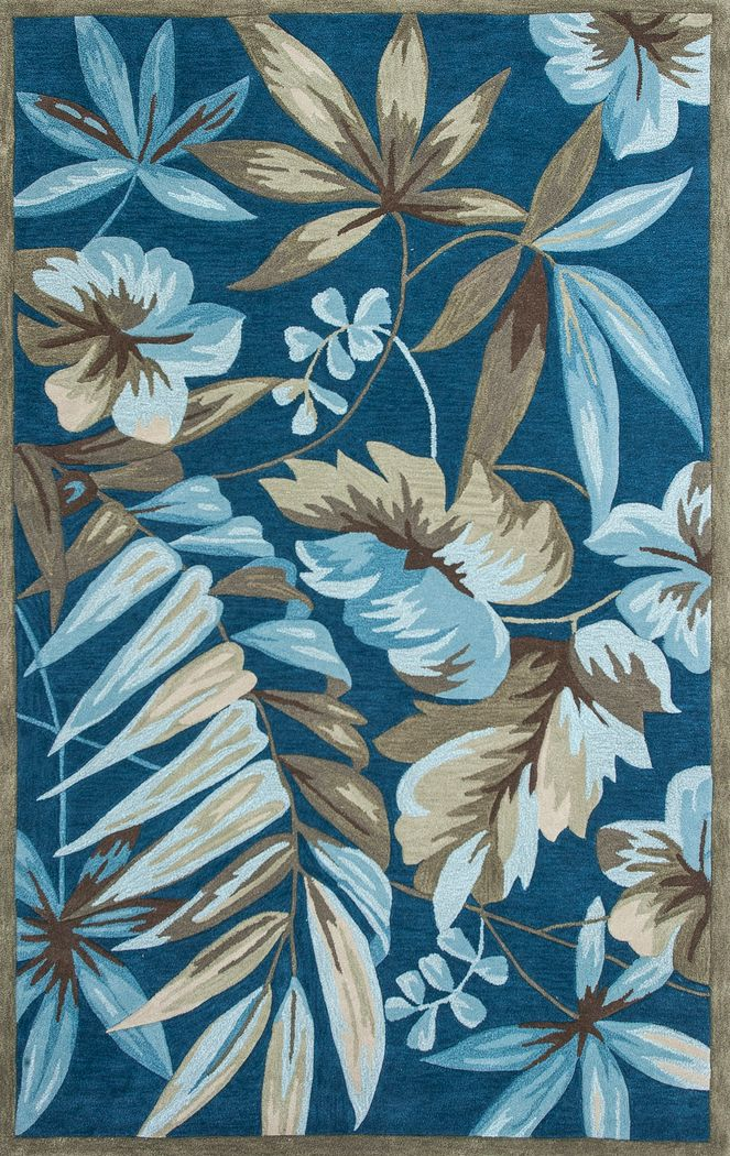 Palms of Lagos Blue 8' x 10'6 Rug