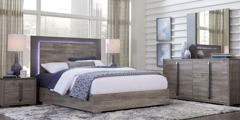 Park Slope Gray 5 Pc King Panel Bedroom