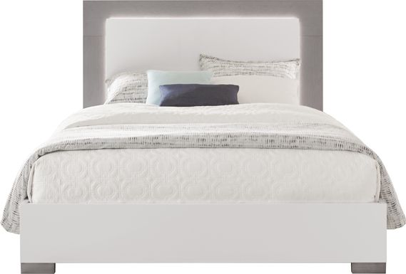 Park Slope White 3 Pc Queen Panel Bed