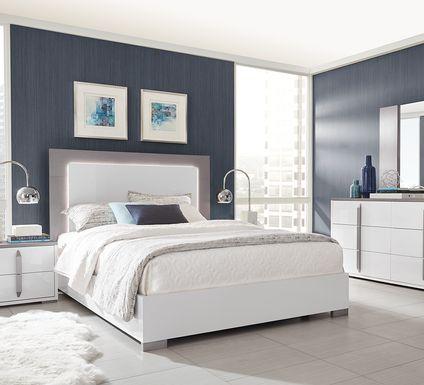 Park Slope White 7 Pc Queen Panel Bedroom