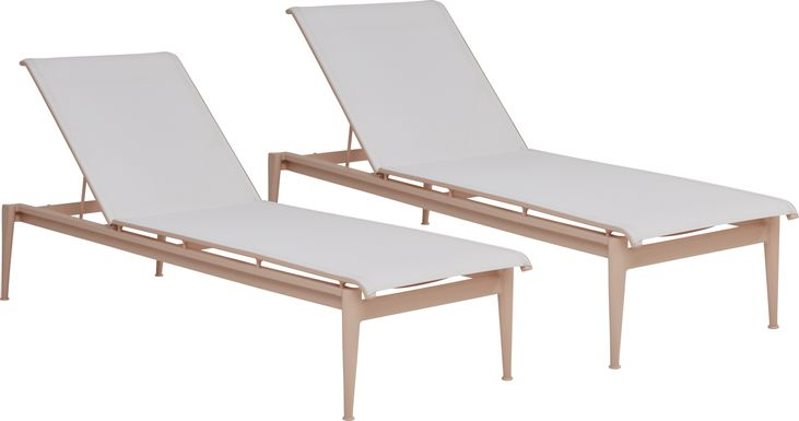 Park Walk Blush Outdoor Chaise, Set of 2