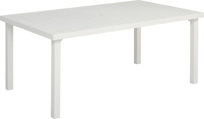 Park Walk White 70 in. Rectangle Dining Table