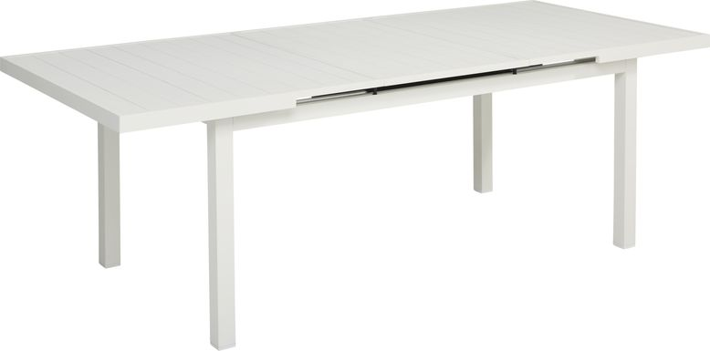 Park Walk White 73 - 97 in. Rectangle Extension Dining Table
