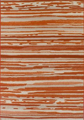 Patenson Orange 5'1 x 7' Indoor/Outdoor Rug