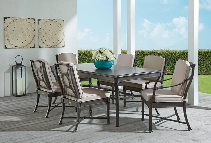 Outdoor Patio Dining Furniture Wicker Wood Teak