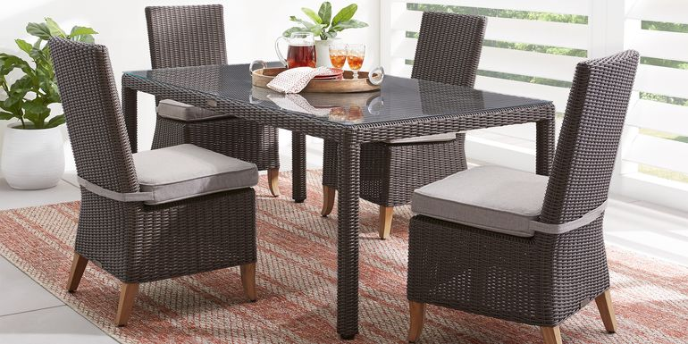 Patmos Brown 5 Pc Outdoor Dining Set