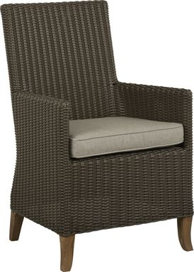 Patmos Brown Outdoor Arm Chair