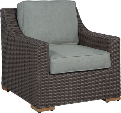Patmos Brown Outdoor Chair with Moss Cushions
